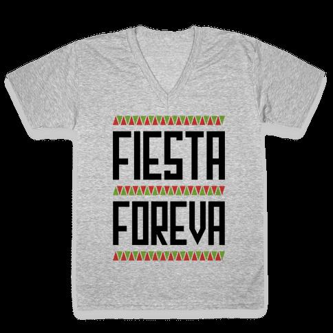 Fiesta Foreva V-Neck Tee Shirt