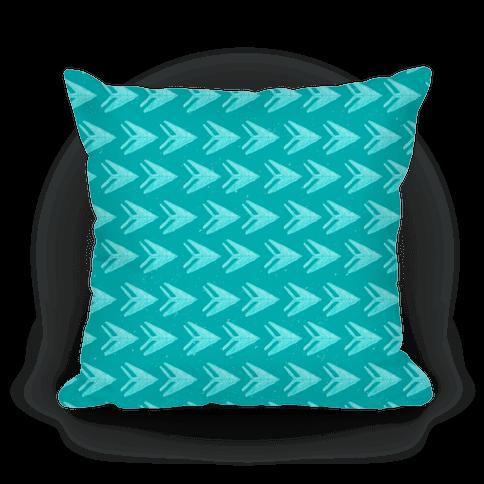 Teal Watercolor Arrow Pattern