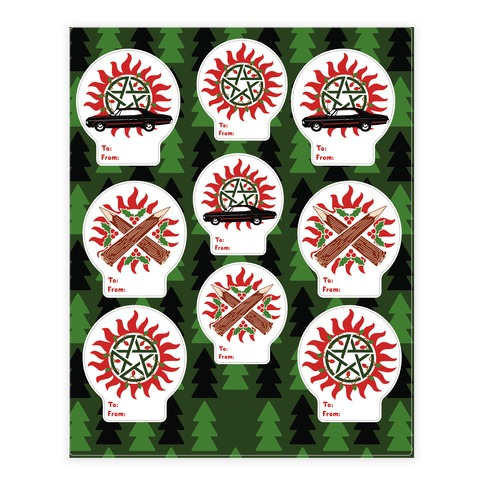 Winchester Family Christmas  Sticker/Decal Sheet