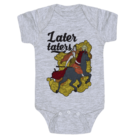 Later Taters Valkyrie Baby Onesy