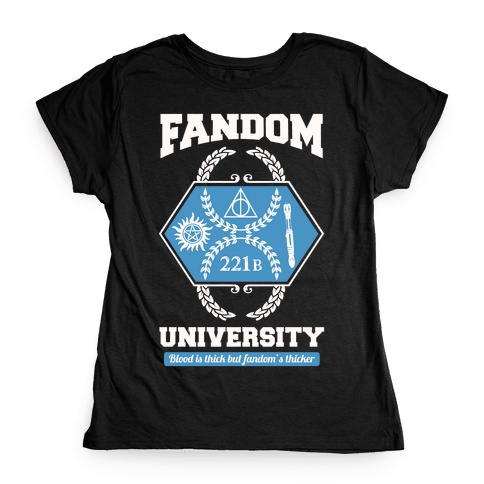Fandom University Womens T-Shirt