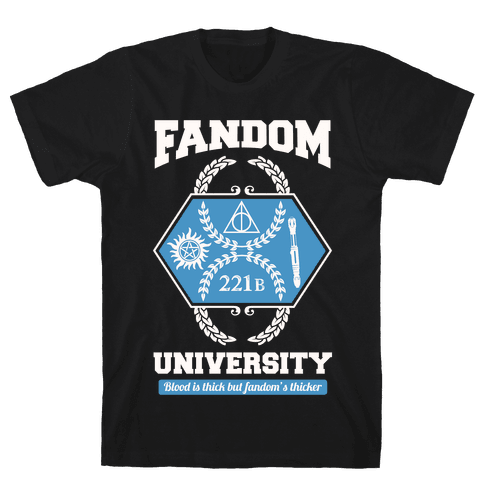 Fandom University Mens T-Shirt
