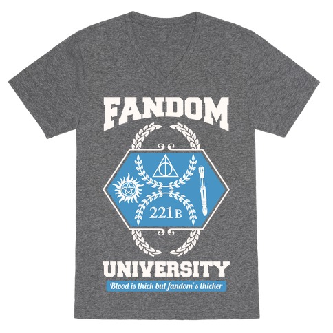 Fandom University V-Neck Tee Shirt