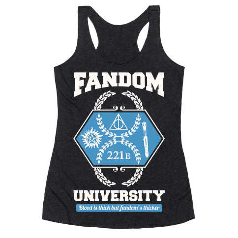 Fandom University Racerback Tank Top