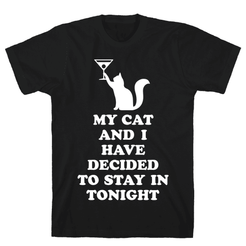 My Cat And I Mens T-Shirt