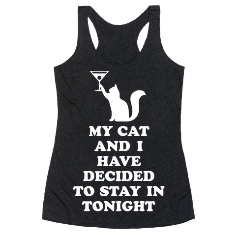 My Cat And I Racerback Tank Top