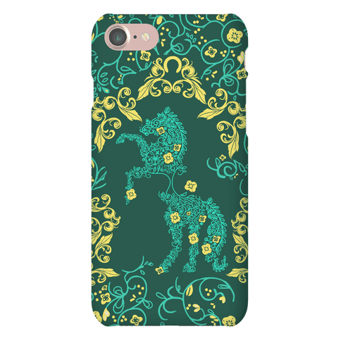 Equestrian Floral Pattern Phone Case
