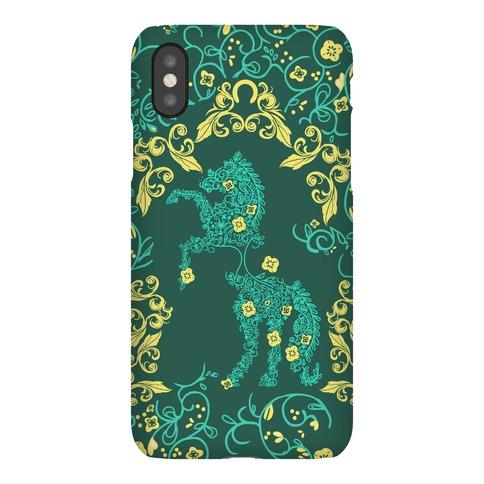 Equestrian Floral Pattern Phone Case