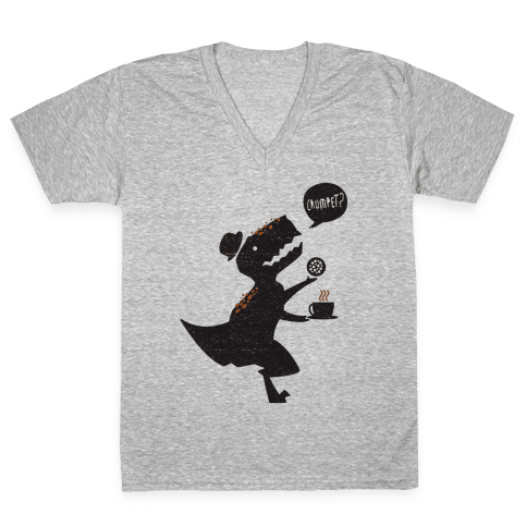 Tea Rex V-Neck Tee Shirt