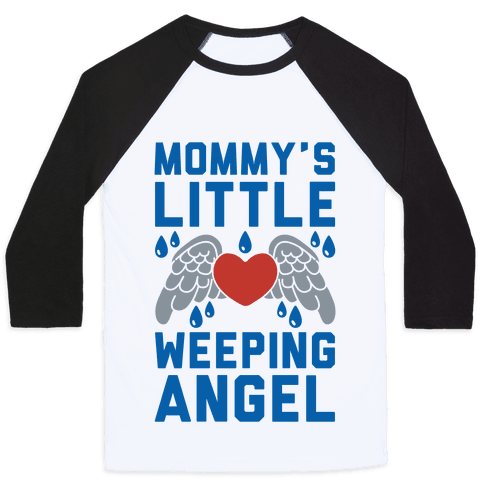Mommy's Little Weeping Angel Baseball Tee