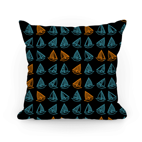 Little Sailboats Pattern Pillow