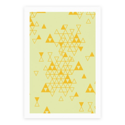 Geometric Triforce Pattern Poster