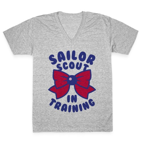 Sailor Scout In Training (Mars) V-Neck Tee Shirt