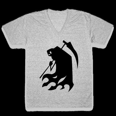Kanji's Grim Reaper (Persona) V-Neck Tee Shirt