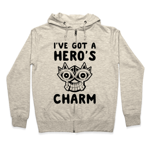 I've Got A Hero's Charm Zip Hoodie