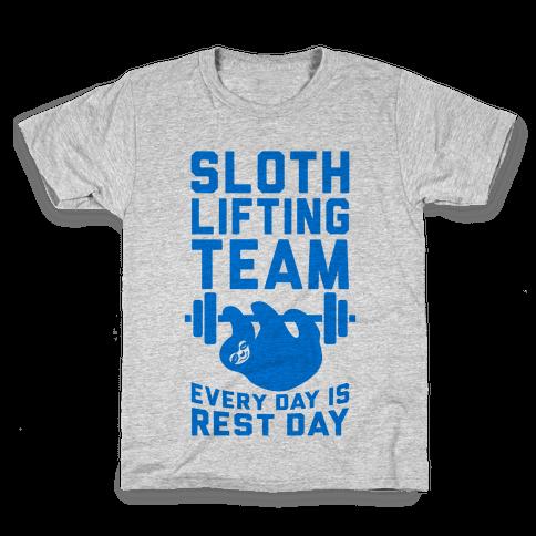 Sloth Lifting Team Kids T-Shirt