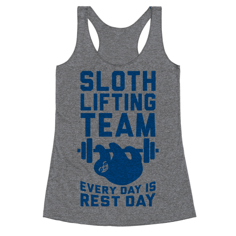 Sloth Lifting Team Racerback Tank Top