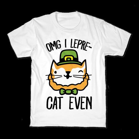 OMG I Lepre-Cat Even Kids T-Shirt