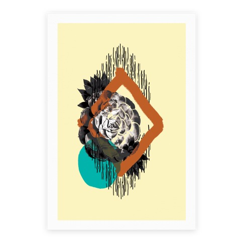Succulent Abstract Collage Poster