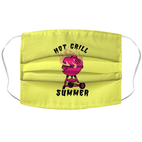 Hot Grill Summer Accordion Face Mask