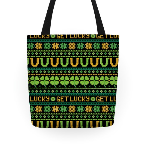 St. Patrick's Day Ugly Sweater Pattern Tote