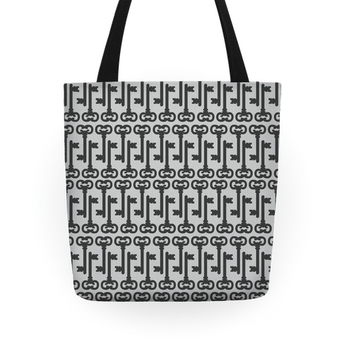 Skeleton Key Pattern Tote