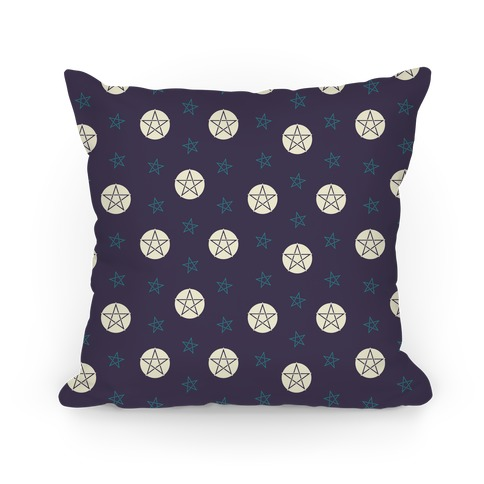 Purple Wicca Pentacle Pattern Pillow