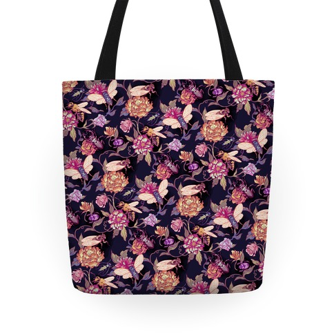 Florals & Hidden Insects Tote