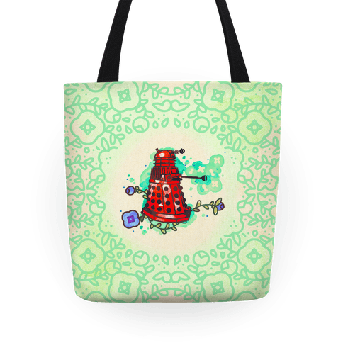 Watercolor Doctor Who Icon (Dalek) tote Tote