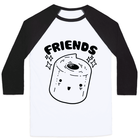 Best Friends TP & Poo (Toilet Paper Half) Baseball Tee