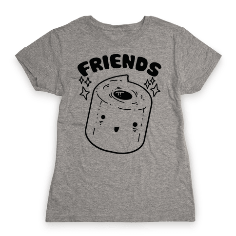 Best Friends TP & Poo (Toilet Paper Half) Womens T-Shirt
