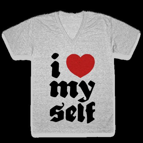 I Love Myself V-Neck Tee Shirt