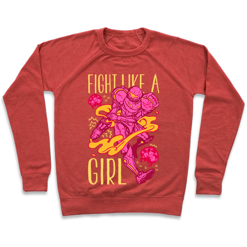 Fight Like A Girl Samus Parody Pullover