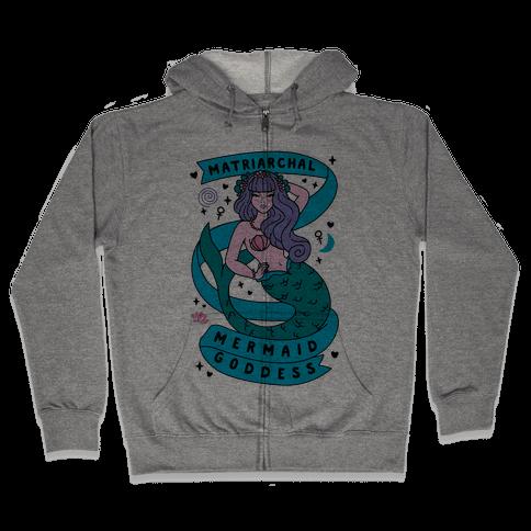 Matriarchal Mermaid Goddess Zip Hoodie
