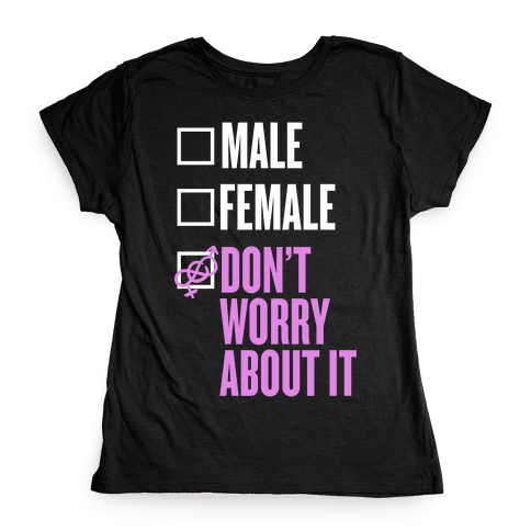 I am Genderfluid Check List Womens T-Shirt