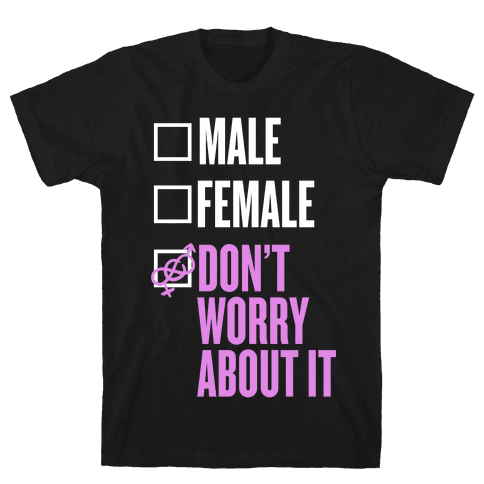 I am Genderfluid Check List Mens T-Shirt