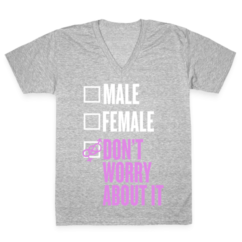 I am Genderfluid Check List V-Neck Tee Shirt