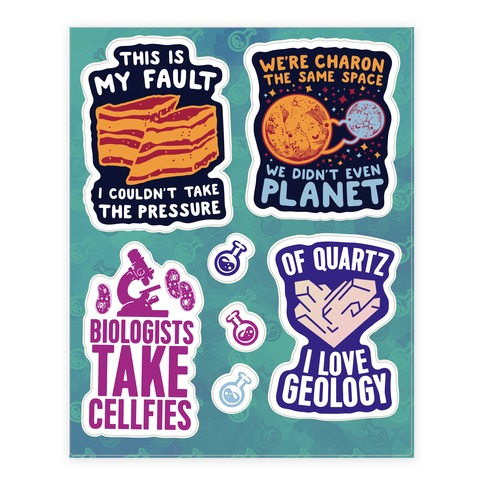 Science Puns Sticker/Decal Sheet