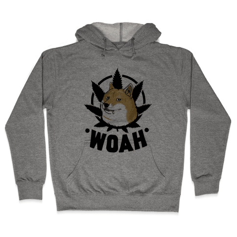 420 Doge Hooded Sweatshirt