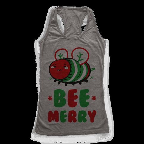 Bee Merry Racerback Tank Top