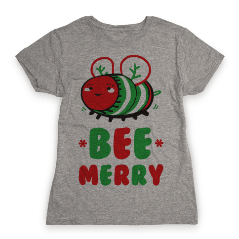 Bee Merry Womens T-Shirt