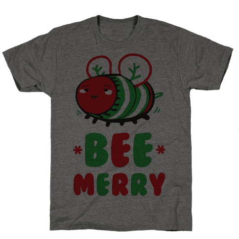 Bee Merry Mens T-Shirt
