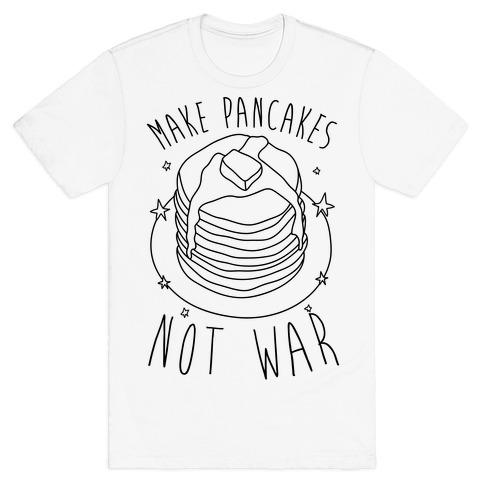 Make Pancakes Not War Mens T-Shirt