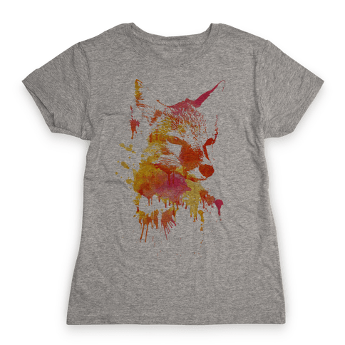 Watercolor Fox Womens T-Shirt