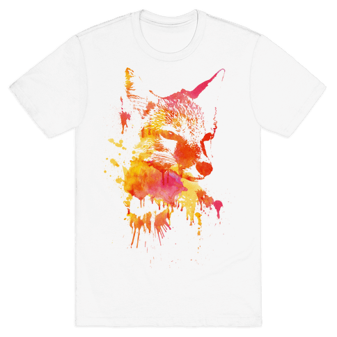 Watercolor Fox Mens T-Shirt