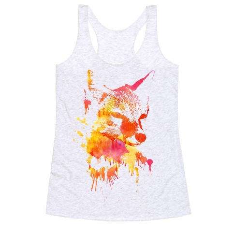 Watercolor Fox Racerback Tank Top