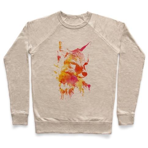Watercolor Fox Pullover