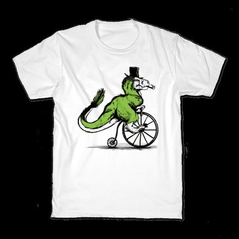 Penny Farthing T-Rex Kids T-Shirt