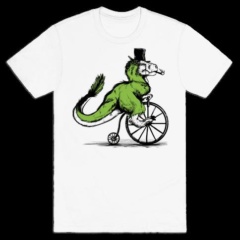 Penny Farthing T-Rex Mens T-Shirt
