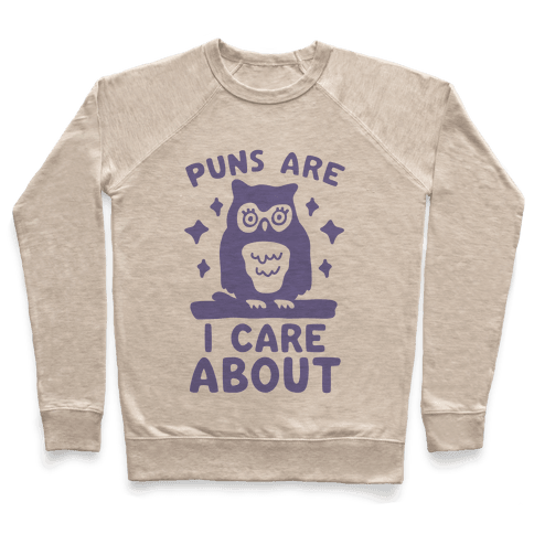 Puns Are Owl Care About Pullover